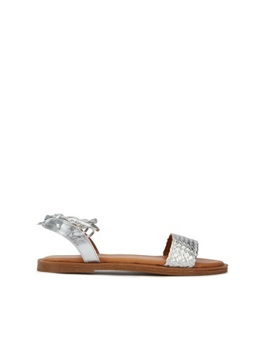 Divarese Divarese 5025377 Cep Desenli  Kadın Sandalet Gümüş